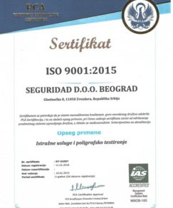 Seguridad sertifikat ISO 9001